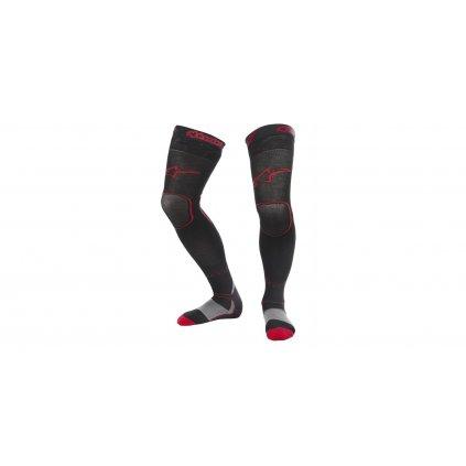 ponožky MX 2022, ALPINESTARS (černá/červená)