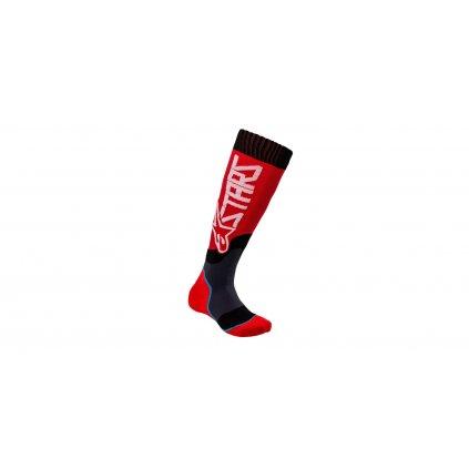 ponožky MX PLUS-2 2021, ALPINESTARS, dětské (červená/bílá)