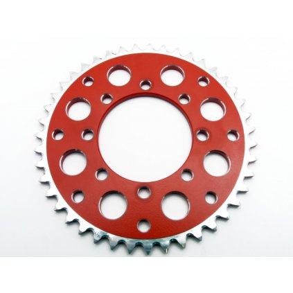 pitbike hliníková rozeta SMC na řetěz 420/43 zubů, červená