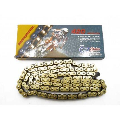 ČZ Řetěz 420 MX profesional zlatý 120 článků, Stomp, DemonX, WPB