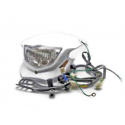 pitbike přední maska se světlem, kabeláž, spínací skříňka s klíčem
