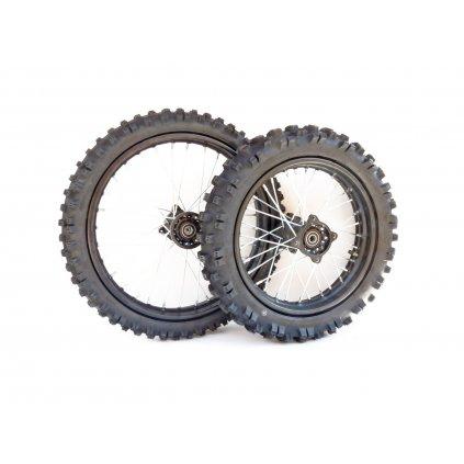 pitbike přední kolo 17palců a zadní kolo 14palců s pneu - Stomp, DemonX, WPB