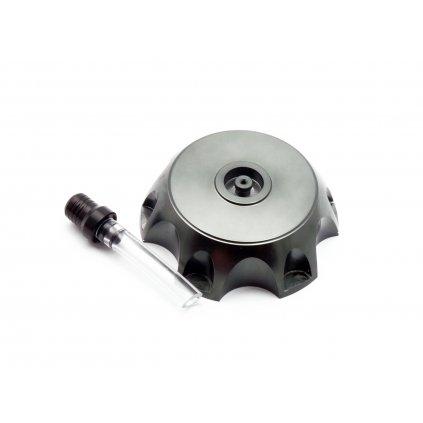 pitbike CNC hliníkové víčko palivové nádrže bez loga titanium
