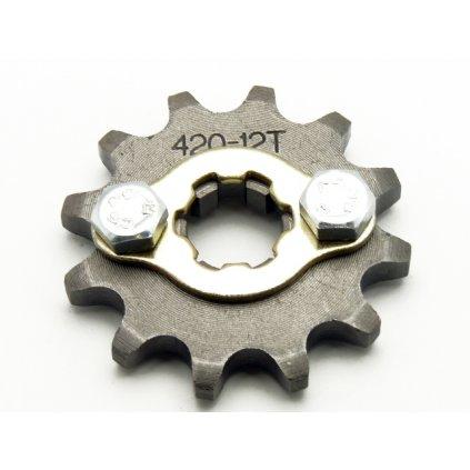 pitbike řetězové kolečko 420/12 na hřídel 17mm, Stomp, DemonX, WPB