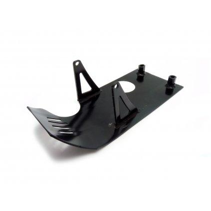 pitbike spodní kryt motoru hliníkový - černý Stomp, DemonX, WPB