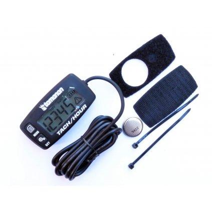 Pitbike Měřič motohodin / otáček s vyměnitelnou baterií, vodotěsný - Tomanon