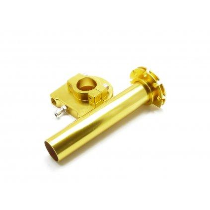 pitbike plynová rukojeť ALLOY speciál zlatá