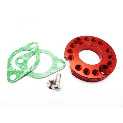pitbike CNC směrová podložka příruby karburátoru 26mm, Stomp, DemonX, WPB