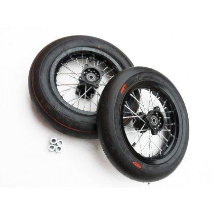 pitbike motárdová kola 12 palců s pneu CST slick Stomp, DemonX, WPB