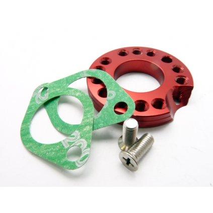 pitbike CNC směrová podložka příruby karburátoru 22mm Stomp, DemonX, WPB