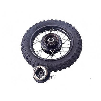 pitbike přední kolo 10 palců s bubnovou brzdou a oskou DemonX minipit