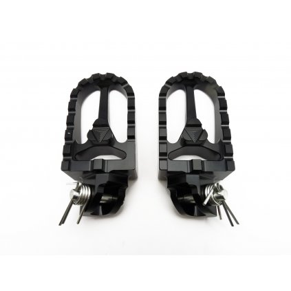 pitbike stupačky CNC černé, Stomp, DemonX, WPB