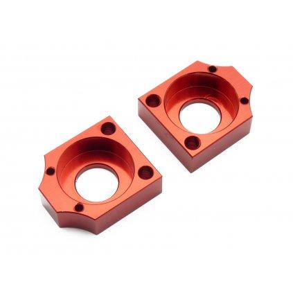 pitbike napínáky řetězu CNC, kostka, červené