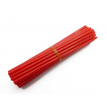 barevný obal drátu kol, červený, 35ks