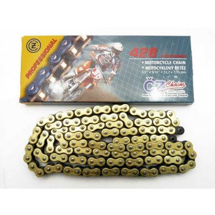 ČZ Řetěz 428 MX profesional zlatý 120 článků, Stomp, DemonX, WPB