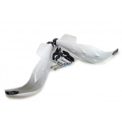 pitbike blastry, chrániče rukou plastové ,bílé