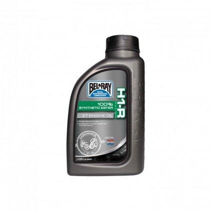 Motorový olej Bel-Ray H1-R RACING 100% SYNTHETIC ESTER 2T 1 l