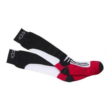 ponožky RACING ROAD COOLMAX®, ALPINESTARS (černá/bílá/červená)