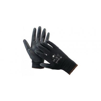 Pracovní rukavice nylon černé LIGHT (sada 12 párů)