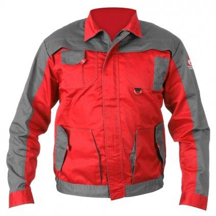 Pracovní bunda ACI montérková červenošedá letní