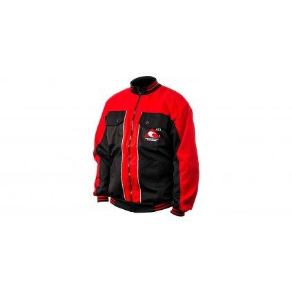 Pracovní bunda ACI montérková černočervená PREMIUM