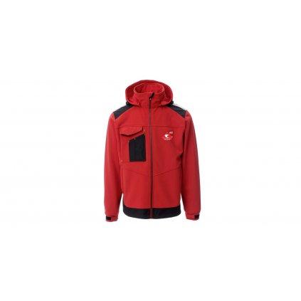 Bunda ACI softshell s kapucí červená