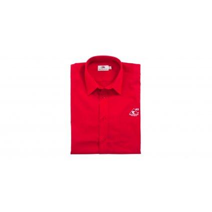 Košile s krátkým rukávem pánská, červená ACI