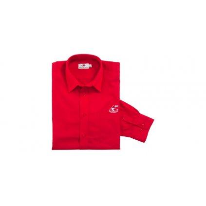 Košile s dlouhým rukávem pánská, červená ACI