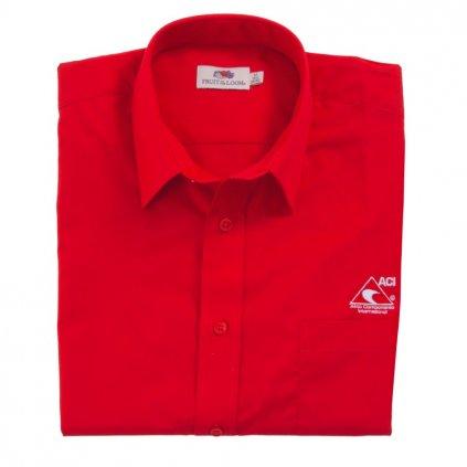 Košile s krátkým rukávem dámská, červená ACI