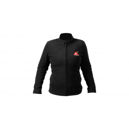 Mikina ACI černá na zip fleece dámská 285 g