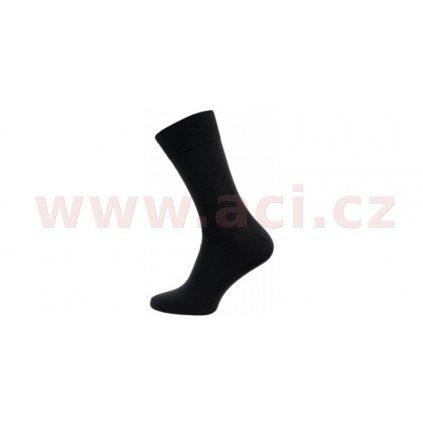 Ponožky černé hladké LYCRA (sada 5 párů)