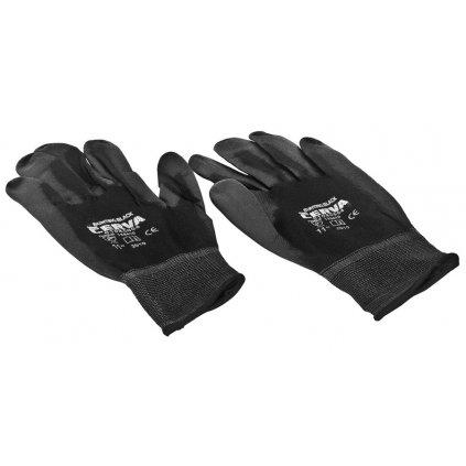 Pracovní rukavice nylon černé (sada 12 párů)