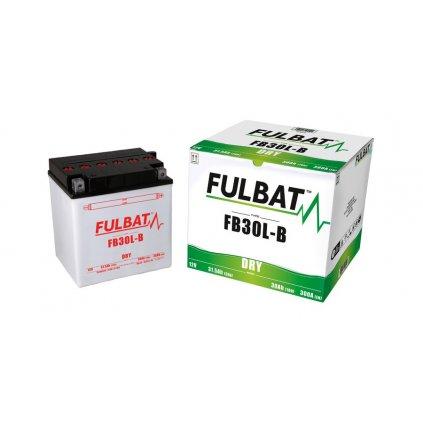 baterie 12V, YB30L-B, 31,5Ah, 300A, konvenční 168x132x176 FULBAT (vč. balení elektrolytu)