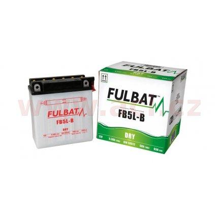 baterie 12V, YB5L-B, 5Ah, 65A, konvenční 120x60x130 FULBAT(vč. balení elektrolytu)
