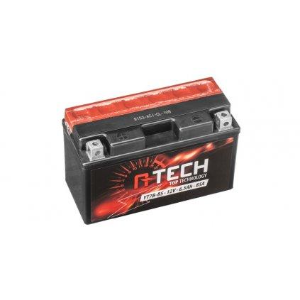 baterie 12V, YT7B-BS, 6,5Ah, 85A, bezúdržbová MF AGM 150x65x93, A-TECH (vč. balení elektrolytu)