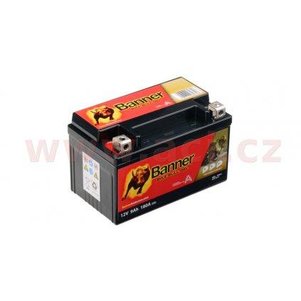 baterie gelová 12V, GTZ10-4, 9Ah, 180A, BANNER Bike Bull GEL 150x86x94