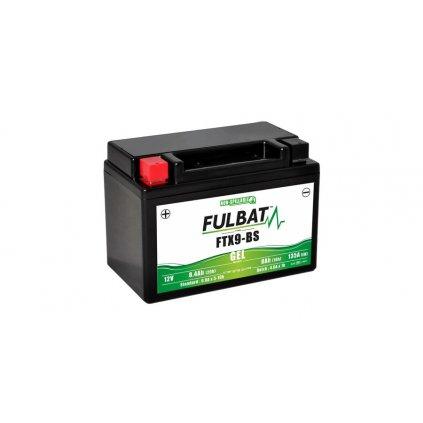 baterie 12V, FTX9-BS GEL, 8,4Ah, 135A, bezúdržbová GEL technologie 150x87x105, FULBAT (aktivovaná ve výrobě)