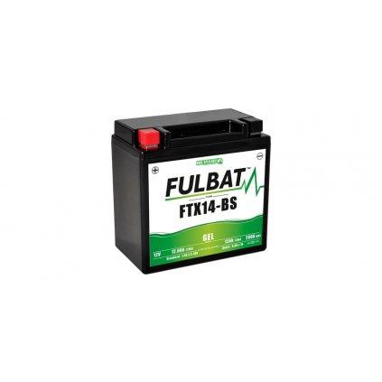 baterie 12V, YTX14-BS GEL, 12,6Ah, 200A, bezúdržbová GEL technologie 150x87x145, FULBAT (aktivovaná ve výrobě)