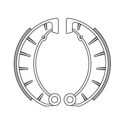 brzdové obložení, NEWFREN (standardní materiál) 2 ks v balení