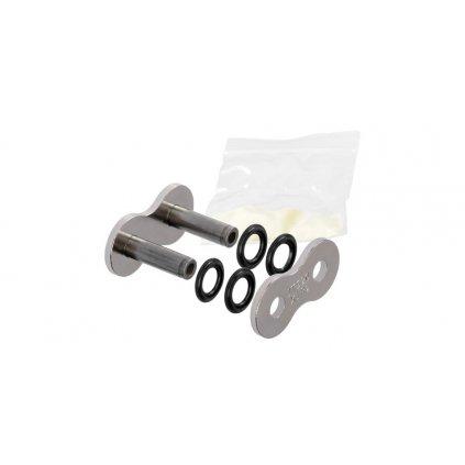 spojka řetězu 520X1R2, JT CHAINS (barva stříbrná, nýtovací, typ RIVET)