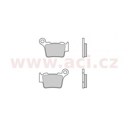 Brzdové destičky, zadní ORIGINÁL (BREMBO, sintermetalická směs)