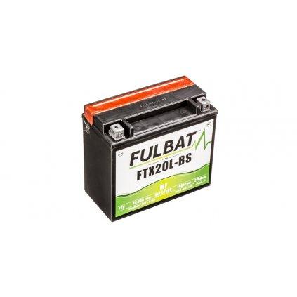 baterie 12V, YTX20L-BS, 18Ah, 270A, bezúdržbová MF AGM 175x87x155, FULBAT(vč. balení elektrolytu)