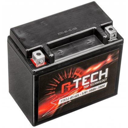 baterie 12V, YTX12-BS GEL, 10Ah, 180A, bezúdržbová GEL technologie 150x87x130 A-TECH (aktivovaná ve výrobě)