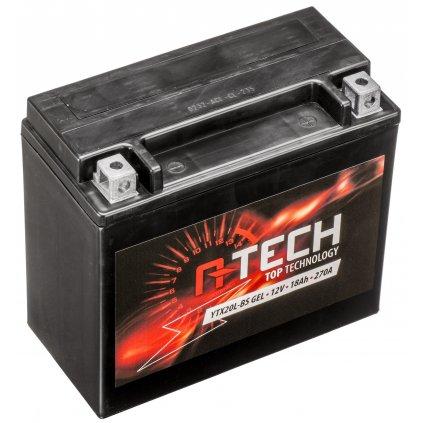 baterie 12V, YTX20L-BS, 18Ah, 270A, bezúdržbová GEL 175x87x155, A-TECH (aktivovaná ve výrobě)