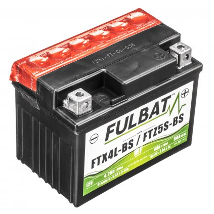 baterie 12V, FTX4L-BS, 3Ah, 50A, bezúdržbová MF AGM 114x71x86, FULBAT (vč. balení elektrolytu)