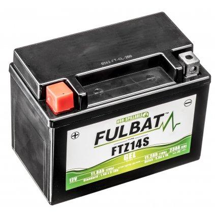 baterie 12V, YTZ14S, 11,2Ah, 230A, bezúdržbová MF SLA 150x88x110, FULBAT (vč. balení elektrolytu)