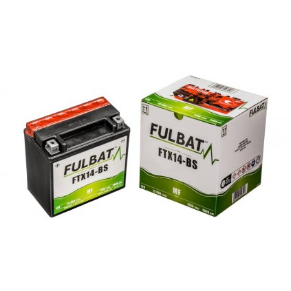 baterie 12V, YTX14-BS, 12Ah, 200A, bezúdržbová MF AGM 150x87x145 FULBAT (vč. balení elektrolytu)