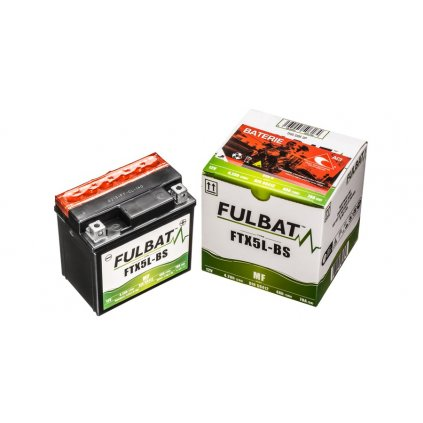 baterie 12V, YTX5L-BS, 4Ah, 70A, bezúdržbová MF AGM 114x71x106, FULBAT (vč. balení elektrolytu)