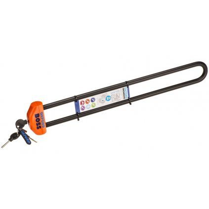 zámek na sněžné skútry SNOWBOSS SSF, OXFORD (oranžová, sada bez držáku na zámek, průměr čepu 15 mm, pro š. pásu do 520 mm)