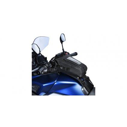 tankbag na motocykl AQUA S8 s popruhy, OXFORD (černý, objem 8 l)
